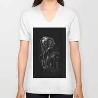 pilot V-neck T-shirts featuring Pilot 01 by Rafal Rola
