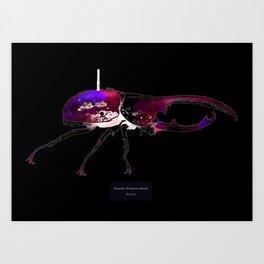 Dynastes Wirelessus Beetle Art Print