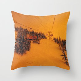 Sunshine Chairlift Throw Pillow