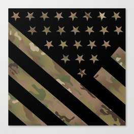 U.S. Flag: Military Camouflage Canvas Print