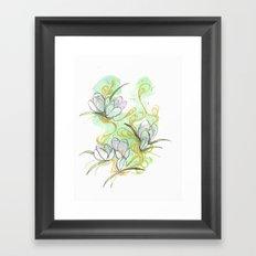 Crocus Framed Art Print
