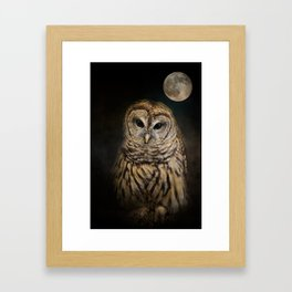 Barred Owl and the Moon Framed Art Print