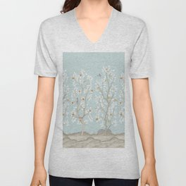 Citrus Grove Mural in Mist Unisex V-Neck