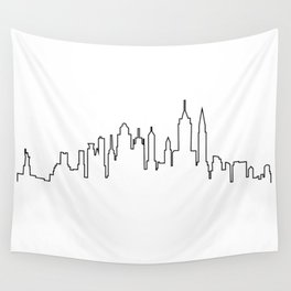New York City Skyline Silhouette Wall Tapestry
