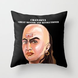 Chanakya - Great mentor and revolutioner Throw Pillow