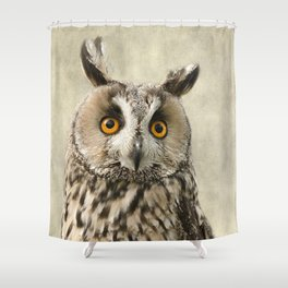 Birds Of Prey. Long Eared Owl Shower Curtain