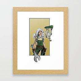 mecha girl Framed Art Print
