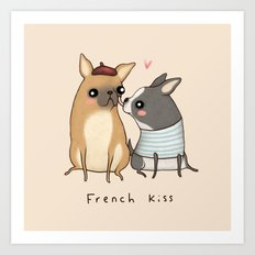French Kiss Art Print