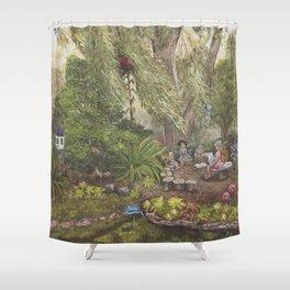 Faerie Garden Letters Shower Curtain