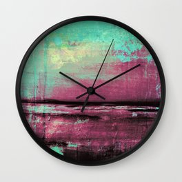 Green Color Patches Wall Clock