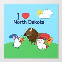 Ernest and Coraline | I love North Dakota Canvas Print