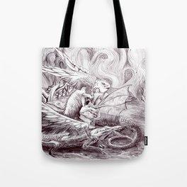 Three Dragons Tote Bag
