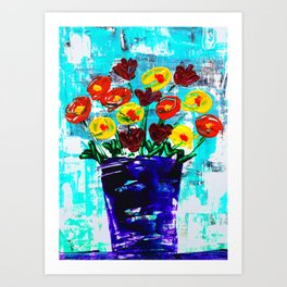 Fanciful Blooms Art Print