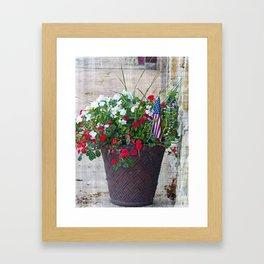 Flowers & Flags Framed Art Print