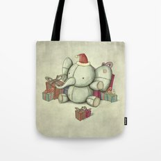 Happy Cute Elephant Tote Bag