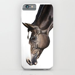 Horse Portrait Acrylic Painting iPhone Case