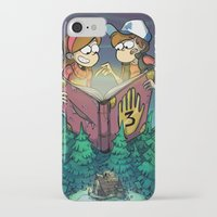 gravity falls iPhone & iPod Cases featuring Gravity Falls by Dinolich