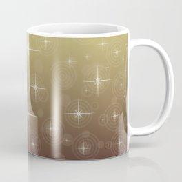 Gold Christmas With Stars Coffee Mug