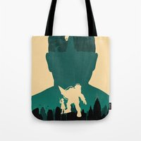bioshock Tote Bags featuring Bioshock by Bill Pyle