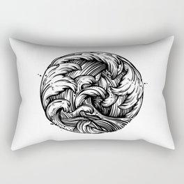 Waves Tattoo Rectangular Pillow
