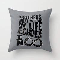 gladiator Throw Pillows featuring echoes in eternity.. gladiator... inspirational quote by studiomarshallarts