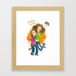 Game Grumps Hug Framed Art Print