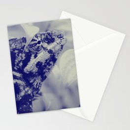Chameleon from Madagascar - creamy yellow and dark blue pallette Stationery Cards