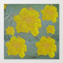 Yellow flower glow Canvas Print