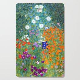 Gustav Klimt Flower Garden Cutting Board