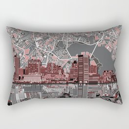 baltimore city skyline abstract Rectangular Pillow