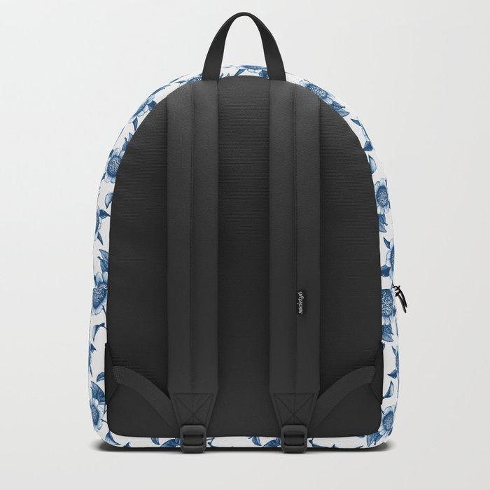 Blue Flowers Elegant Pattern Backpack