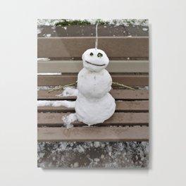 Lucky Snowman Metal Print