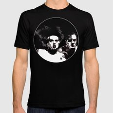 Dr Frankenstein and the Bride of the Monster Mens Fitted Tee MEDIUM Black