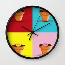 Four Pots Wall Clock