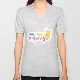 Easter Quotes Hip Hop Hooray Unisex V-Neck