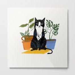 The plant sitter Metal Print