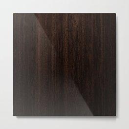Very Dark Coffee Table Wood Texture Metal Print