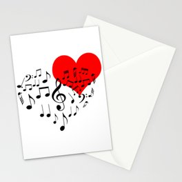 The Singing Heart. Black On White. Simple And Chic Conceptual Design Stationery Cards