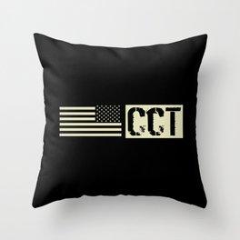 CCT (Black Flag) Throw Pillow