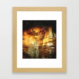Reflections inside a Dolomite Cave Framed Art Print