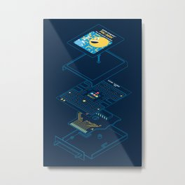 Blueprint Waka-Waka Metal Print