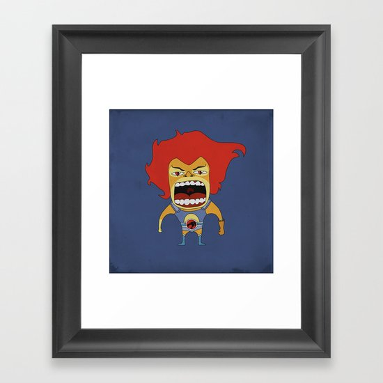 Screaming Lion-O Framed Art Print
