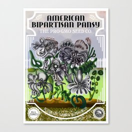 The Bipatisan Pansy Seed Packet Canvas Print