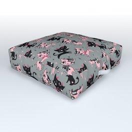 Devil Kitties Grey Outdoor Floor Cushion