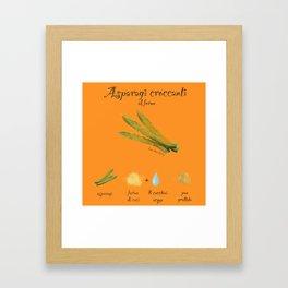 Ricetta Asparagi Framed Art Print