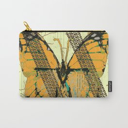 ROADKILL MONARCH BUTTERFLY  & TIRE TRACKS ART Carry-All Pouch
