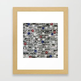 Do The Hokey Pokey (P/D3 Glitch Collage Studies) Framed Art Print
