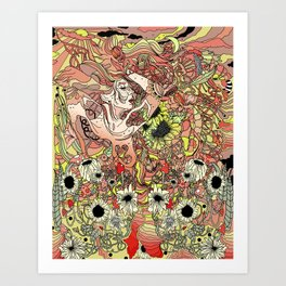 Comes in Three Art Print