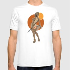 Star Wars tusken pinup MEDIUM Mens Fitted Tee White