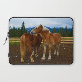 Horses in Jasper National Park, Canada Laptop Sleeve
